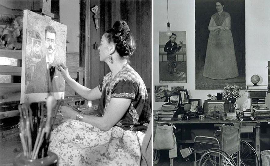 Foto Di Artisti Famosi Nei Loro Studi Frida Kahlo