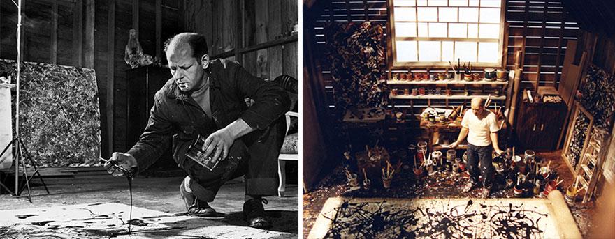 Foto Di Artisti Famosi Nei Loro Studi Jackson Pollock