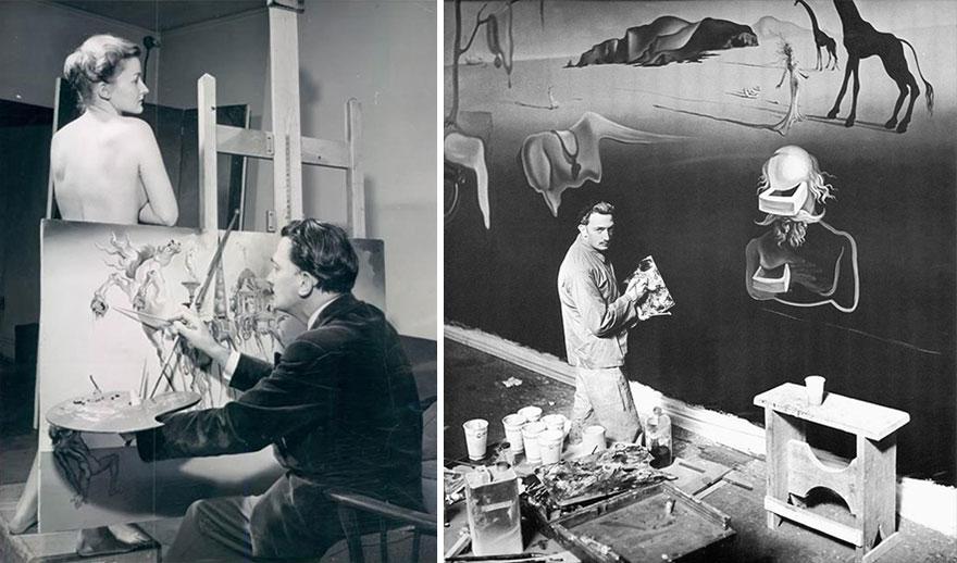 Foto Di Artisti Famosi Nei Loro Studi Salvador Dalí