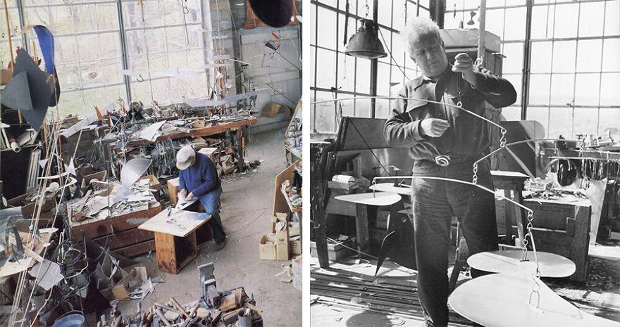 Foto Di Artisti Famosi Nei Loro Studi Alexander Calder