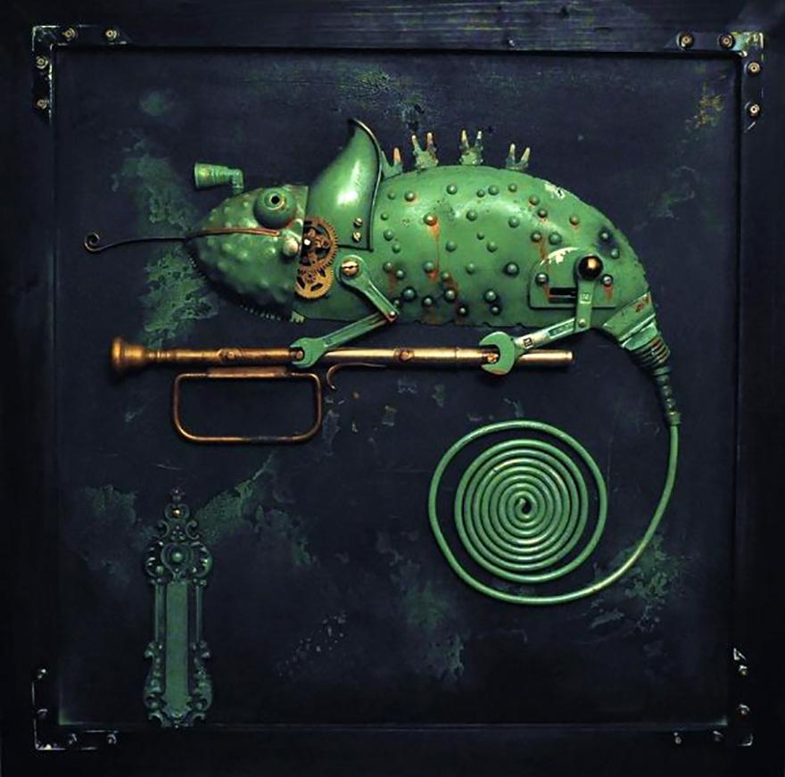 sculture-steampunk-parti-metallo-riciclato-Arturas-Tamasauskas-04