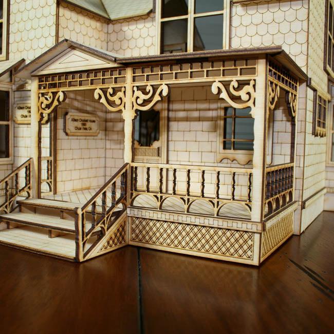 Antiche case vittoriane in legno per le bambole di for Vedere case online