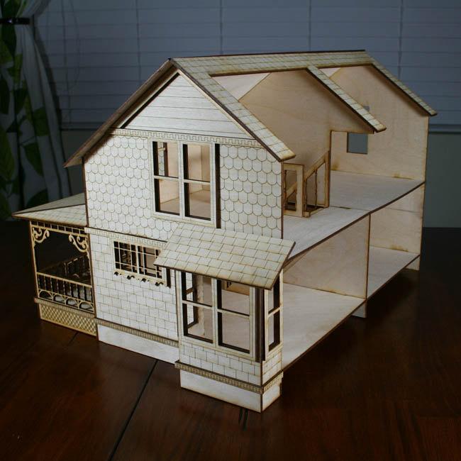 Antiche case vittoriane in legno per le bambole di for Che disegna progetti per le case