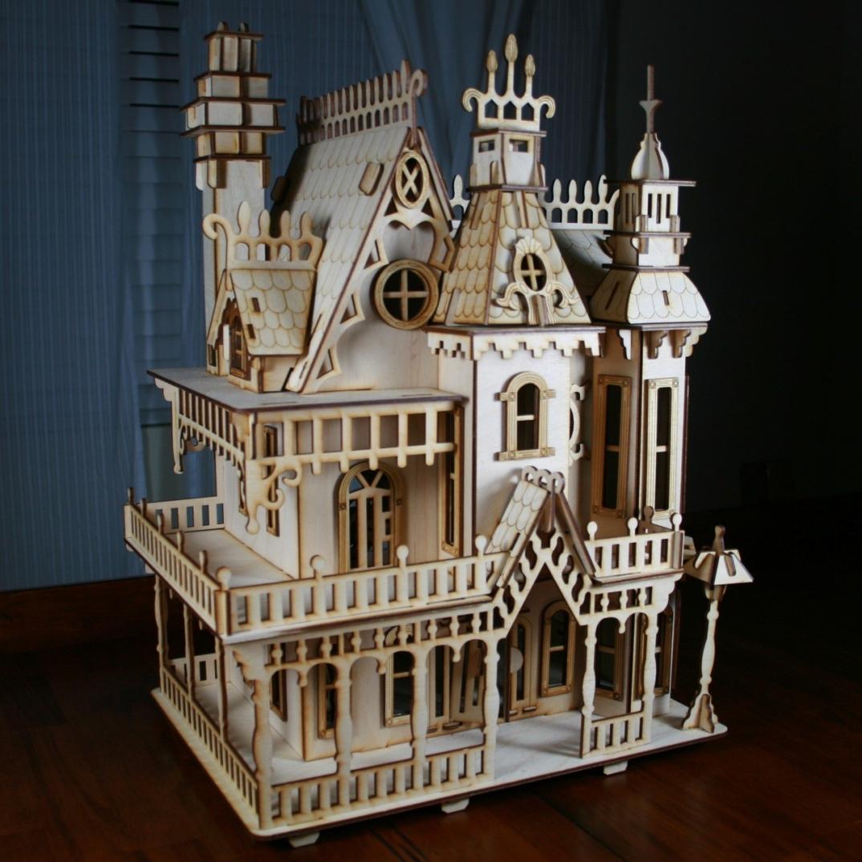 Design House Crafts Uk: Antiche Case Vittoriane In Legno Per Le Bambole, Di