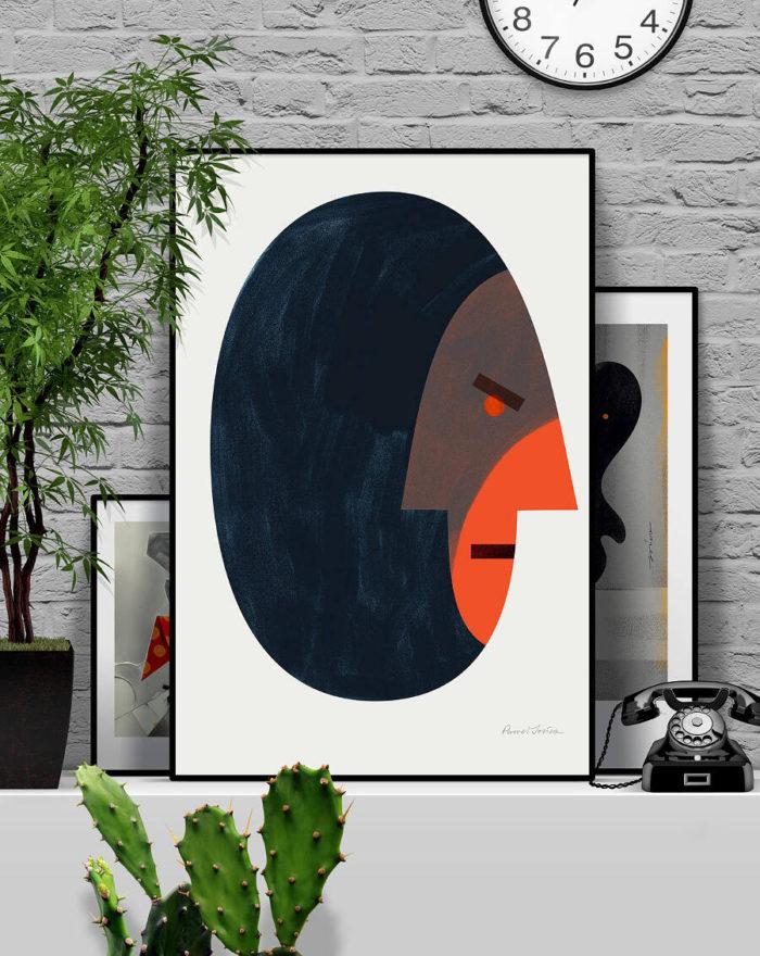 Illustrazioni e stampe artistiche che mostrano emozioni e relazioni umane, di Paweł Jońca