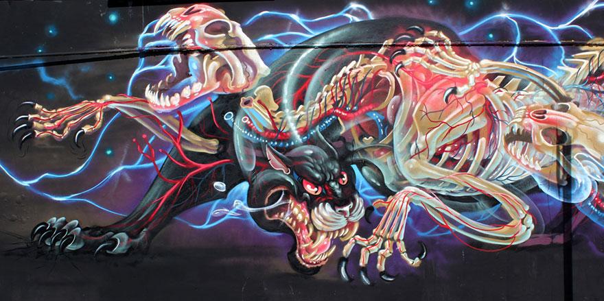 personaggi-cartoni-animali-sezionati-street-art-nychos-04