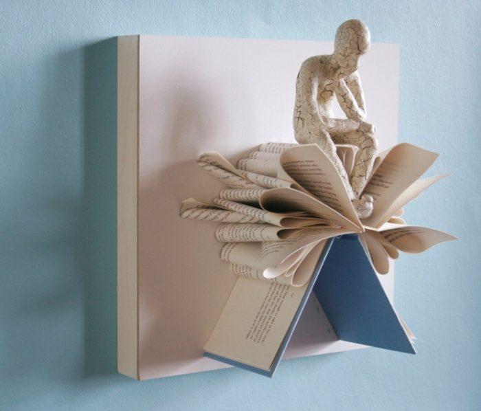 sculture-carta-pagine-libri-pensatore-Kenjio-03