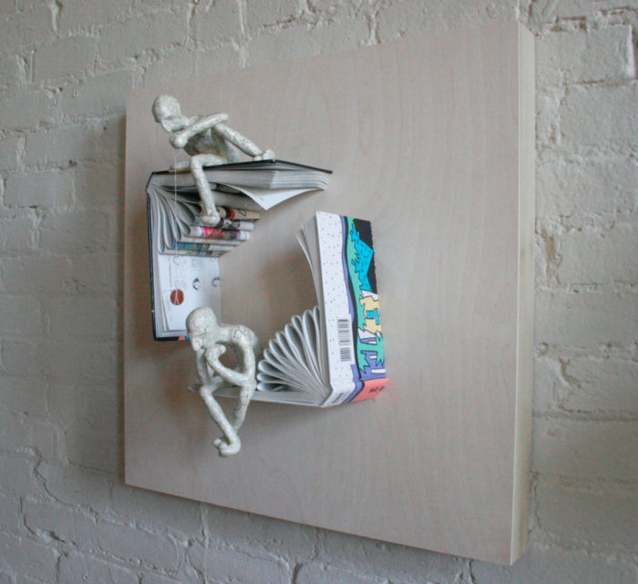 sculture-carta-pagine-libri-pensatore-Kenjio-14