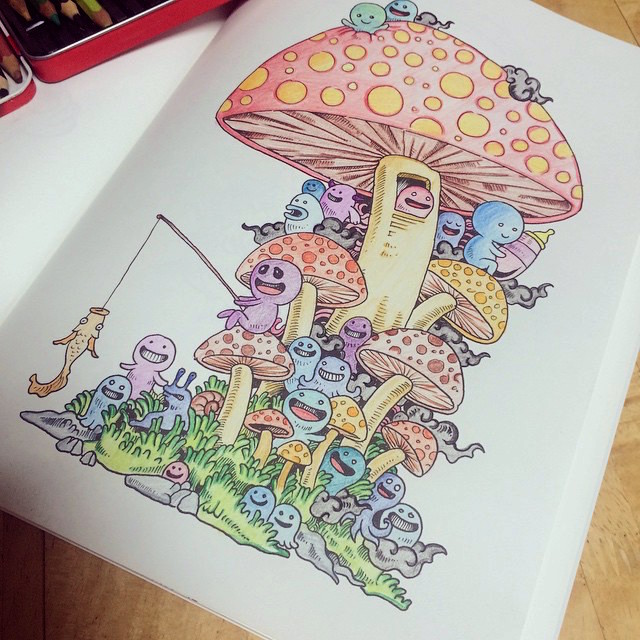 doodle-invasion-libro-da-colorare-per-adulti-kerby-rosanes-10