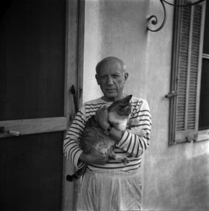 Pablo Picasso Ed Il Suo Gatto