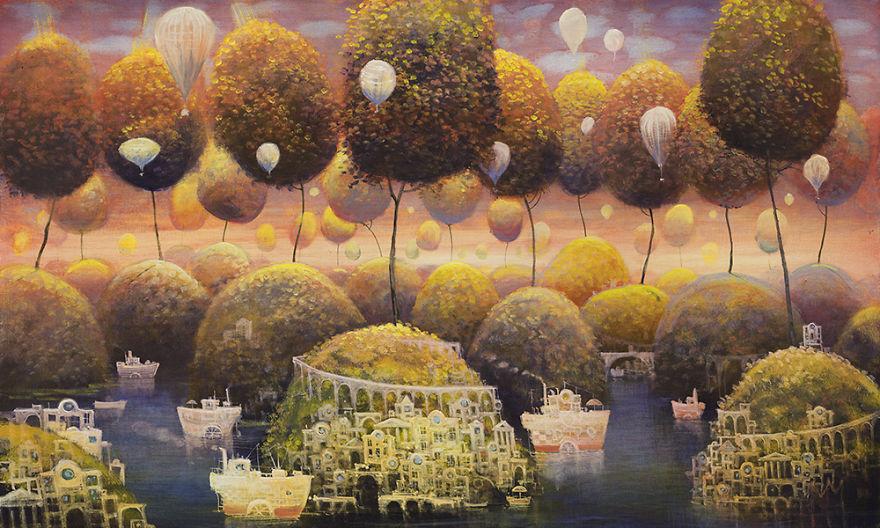 pittura-surreale-contemporanea-olio-su-tela-Modestas-Malinauskas-01