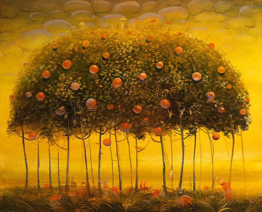 pittura-surreale-contemporanea-olio-su-tela-Modestas-Malinauskas-08