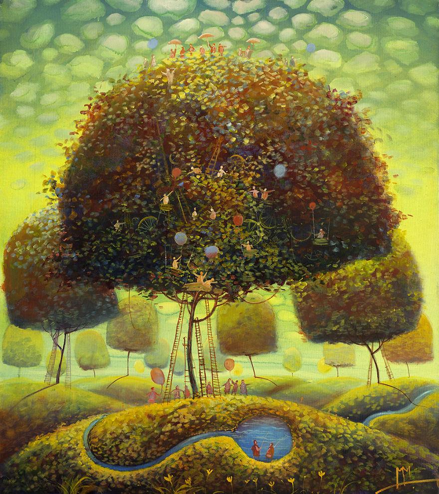 pittura-surreale-contemporanea-olio-su-tela-Modestas-Malinauskas-11
