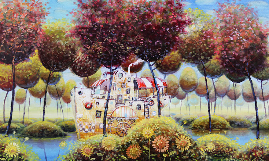 pittura-surreale-contemporanea-olio-su-tela-Modestas-Malinauskas-16