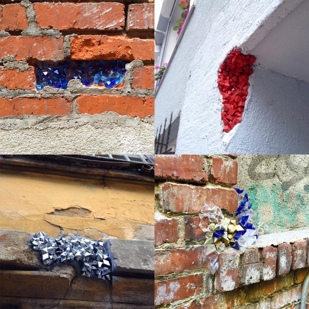 street-art-cristalli-geodi-installazioni-muri-città-Paige-Smith-2