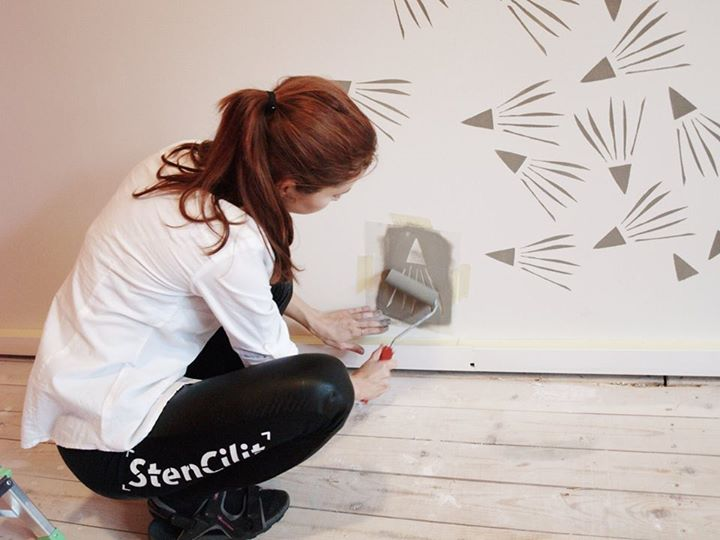 Wall stencil dal design scandinavo, per decorare la casa in ...