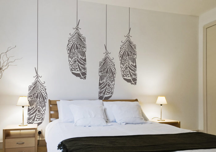 Wall stencil dal design scandinavo per decorare la casa for Stencil x pareti