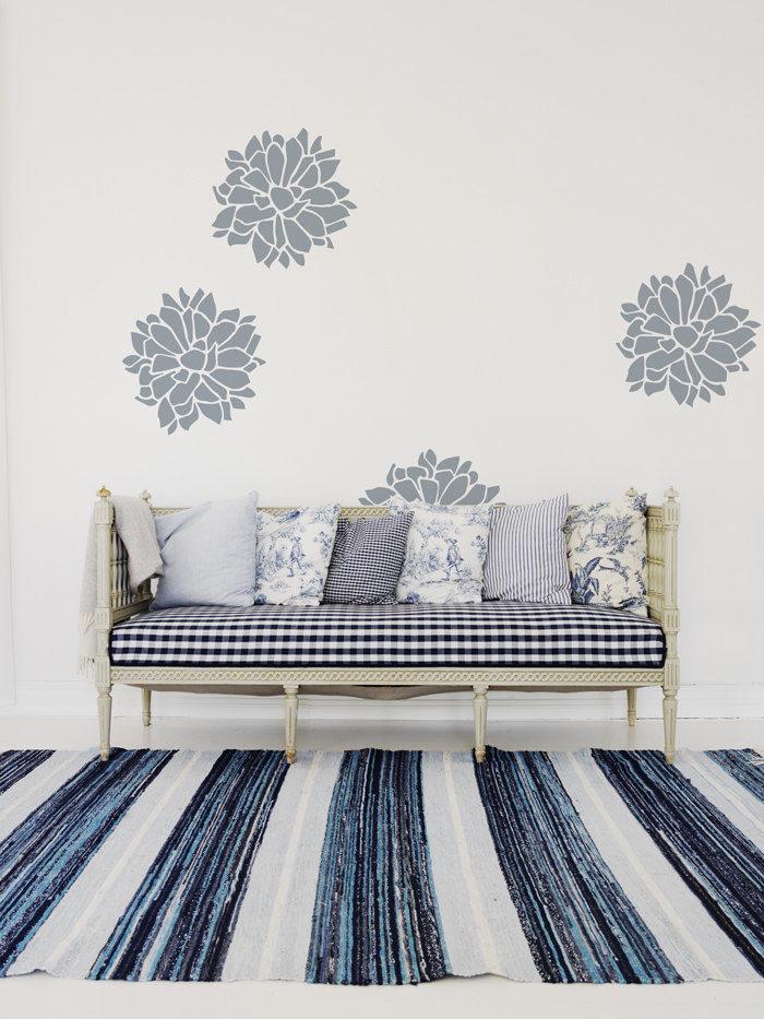 Wall stencil dal design scandinavo, per decorare la casa in ...