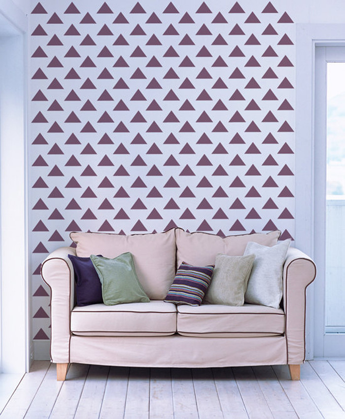 Wall stencil sticker parete muro casa decorazione rullo 10   keblog