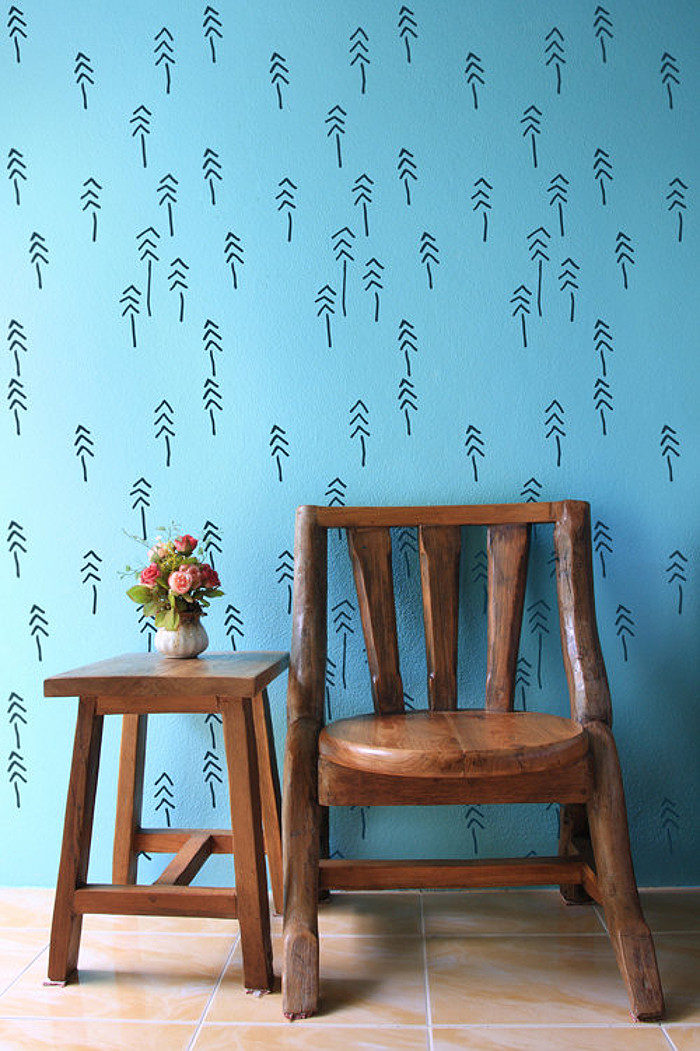 Wall stencil dal design scandinavo per decorare la casa for Decorazione wall sticker