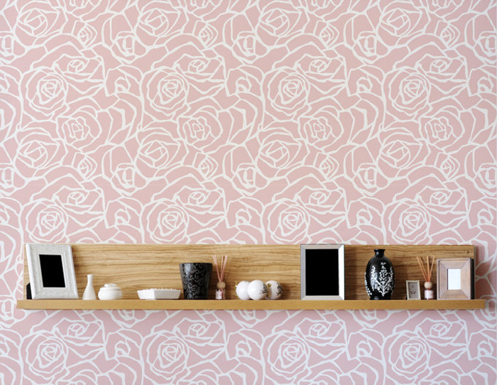 Trendy with stencil pareti for Stencil parete cucina
