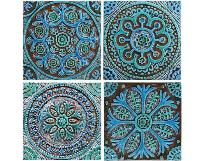 Le ceramiche artistiche di g vega piastrelle decorazioni - Made a mano piastrelle ...