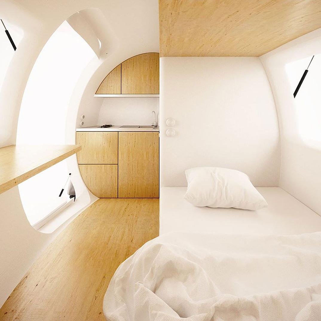 ecocapsule casa cabina ecosostenibile autonoma energia