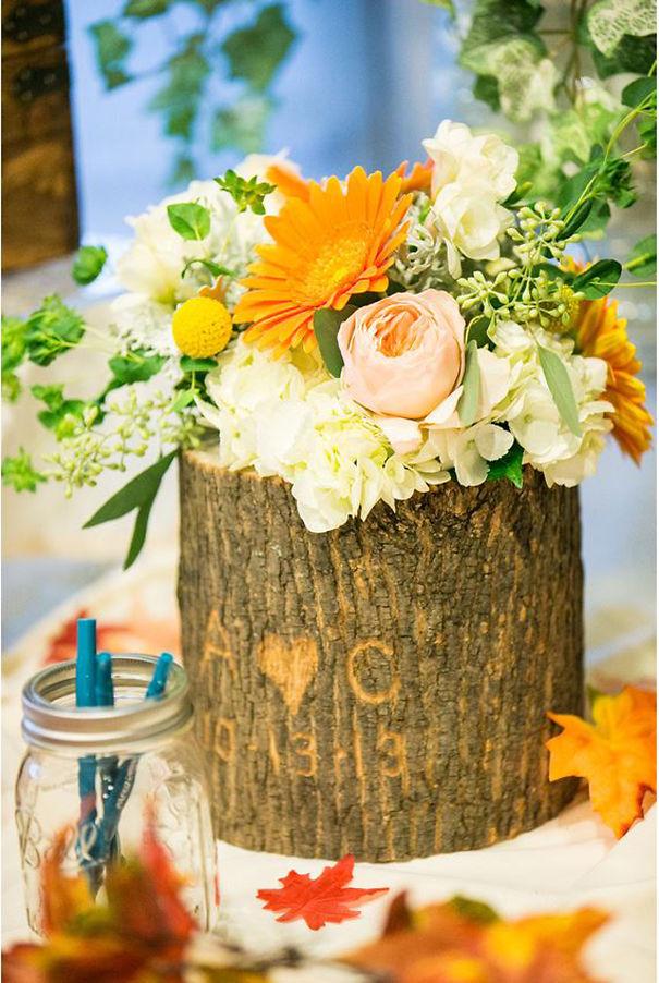 Fioriere giardino tronco albero 02 keblog for Idee fioriere giardino