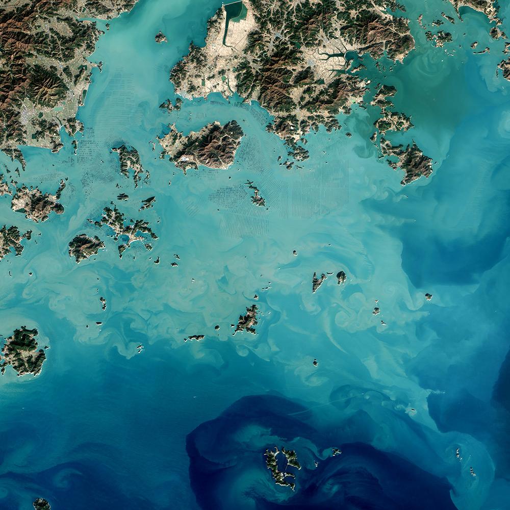 Le affascinanti foto satellitari delle piantagioni di for Interno delle piantagioni del sud