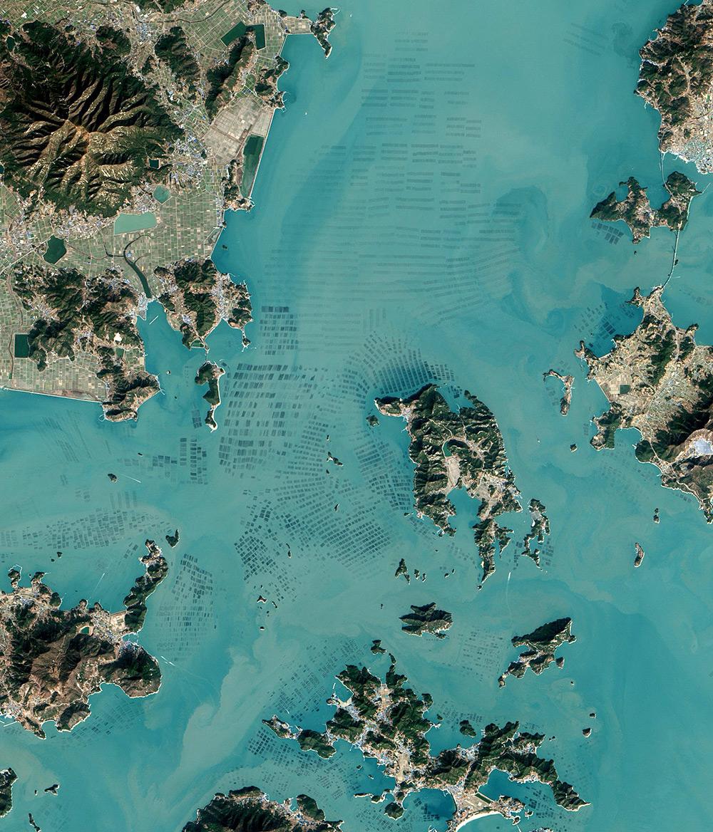 Foto satellitari piantagioni di alghe corea del sud nasa 4 for Casa di piantagioni del sud