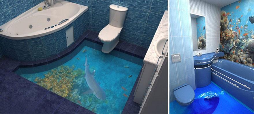 Idee Design Interni Pavimenti 3d Oceano Resina Epossidica 2 Keblog
