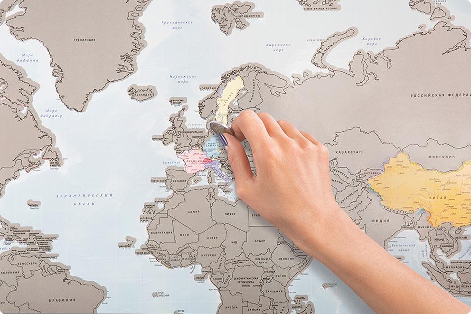 Non pi gratta e vinci ma viaggia e gratta con questa - Mappa del mondo contorno ks2 ...