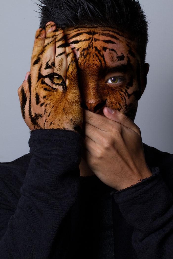 arte-ritratti-volti-umani-animali-faces-of-the-wild-david-mitchell-11