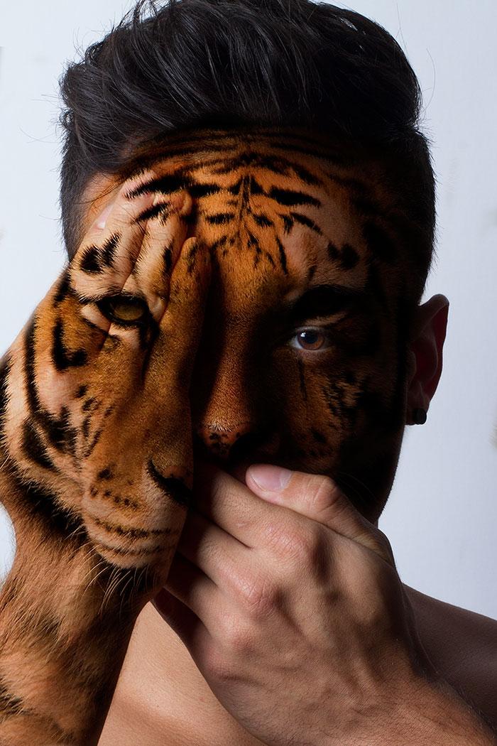arte-ritratti-volti-umani-animali-faces-of-the-wild-david-mitchell-12