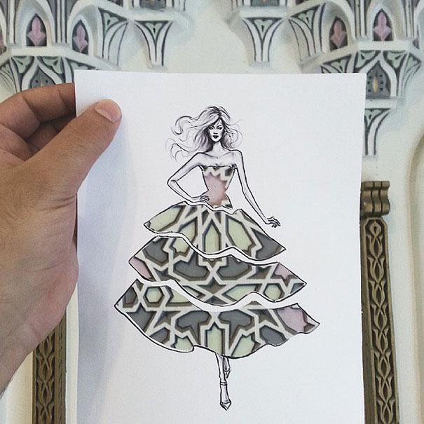 disegni-abiti-ritagliati-decorati-nuvole-palazzi-moda-shamekh-bluwi-2