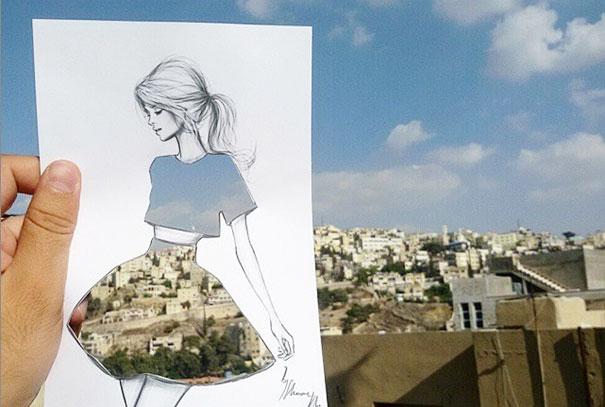 disegni-abiti-ritagliati-decorati-nuvole-palazzi-moda-shamekh-bluwi-4