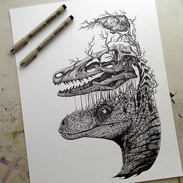 disegni-teschi-scheletri-bianco-e-nero-raccapriccianti-paul-jackson-02