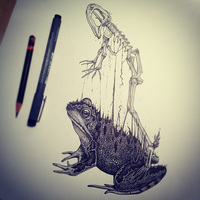 disegni-teschi-scheletri-bianco-e-nero-raccapriccianti-paul-jackson-15