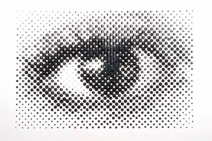 istallazione-arte-anamorfica-prospettiva-palline-sospese-occhio-Perceptual-Shift-2