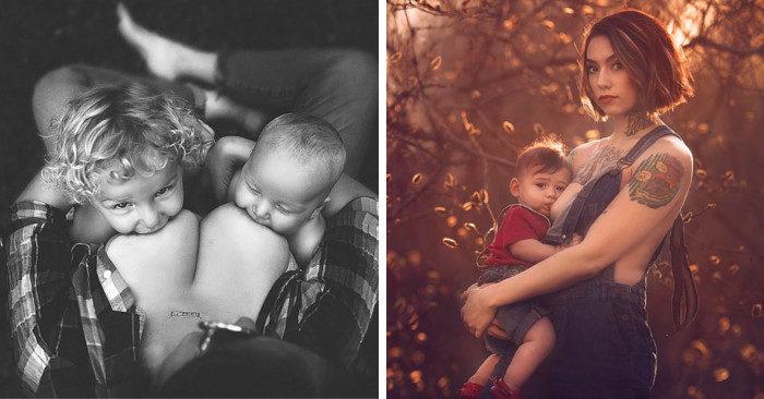 Stupende foto di mamme che allattano al seno mostrandosi in pubblico con meravigliosa naturalezza