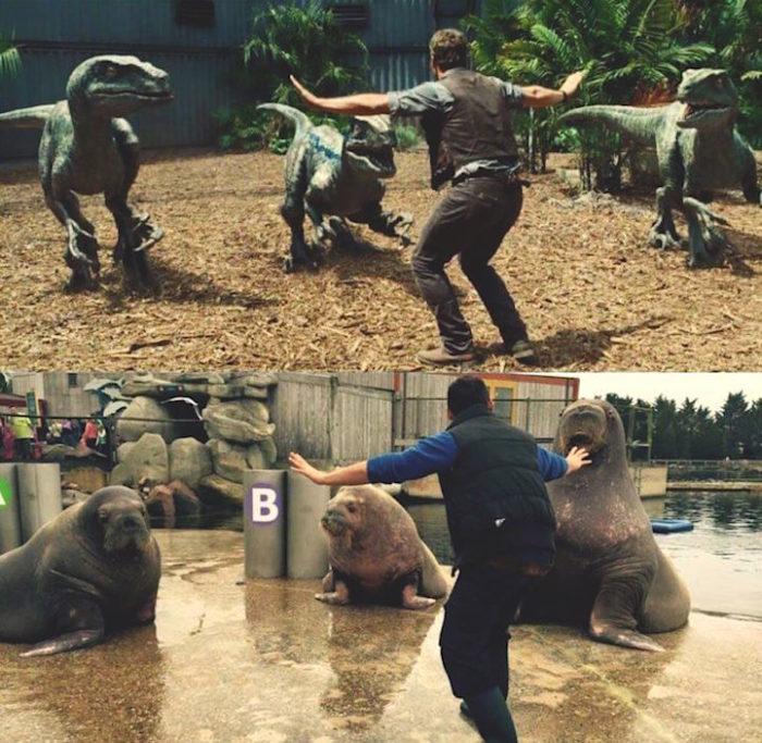 Spiritosi inservienti in uno zoo ricreano la posa dell - Zoo animali da colorare ...
