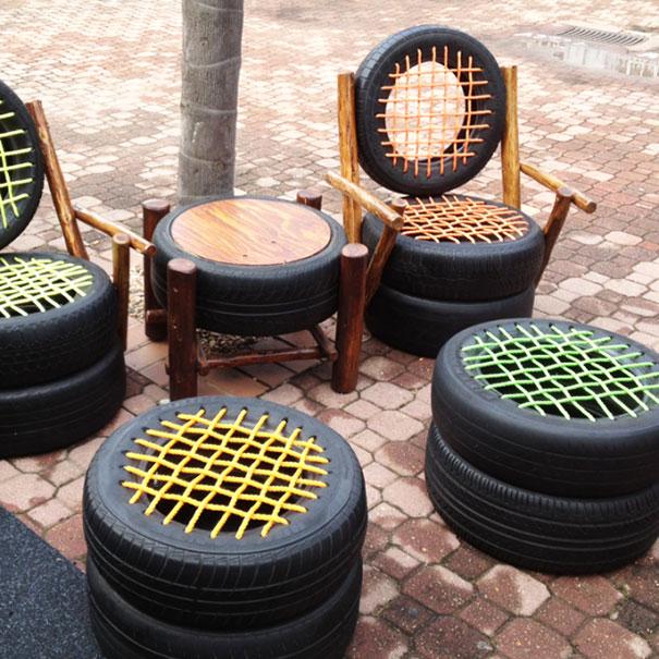 Favorito 41 modi per riciclare i vecchi pneumatici - KEBLOG CE89
