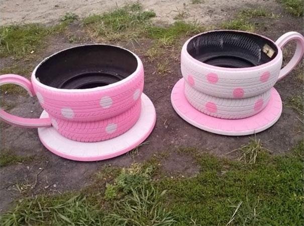 Modi per riciclare i vecchi pneumatici ke