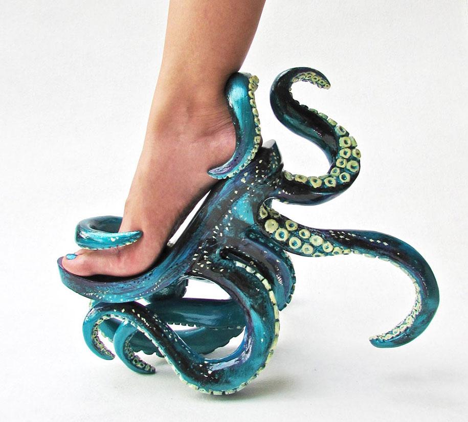 scarpe-donna-tacco-alto-piovra-tentacoli-kermit-tesoro-3