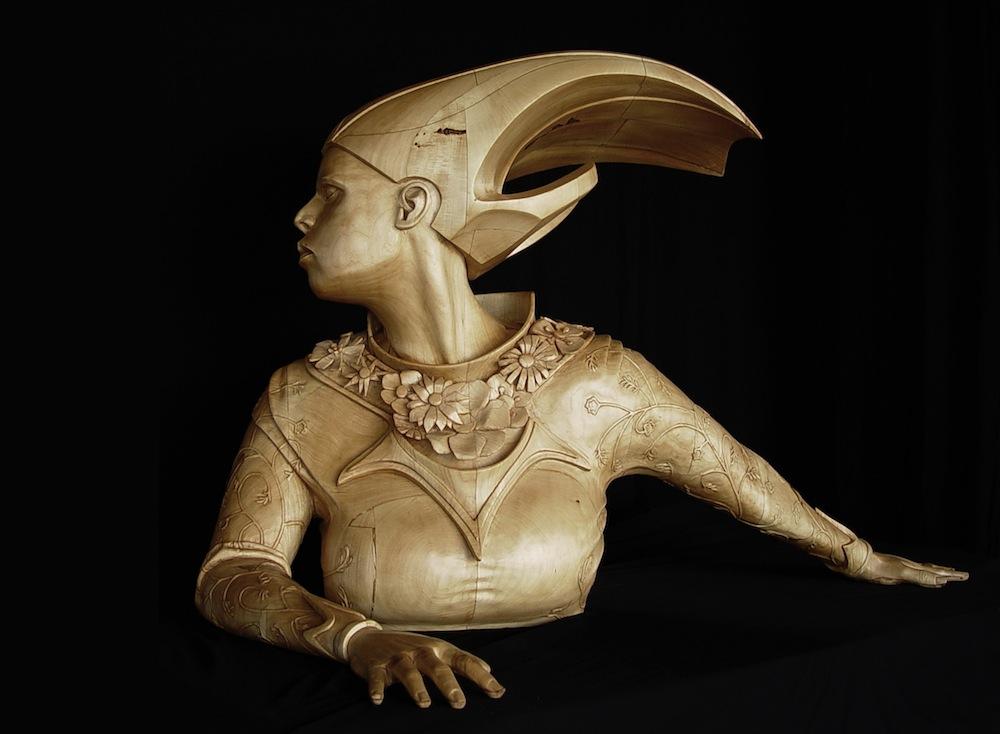sculture-legno-figurative-realistiche-nuotatore-stefanie-rocknak-3