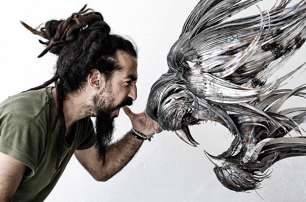 sculture-teste-animali-acciaio-ferro-battuto-selcuk-yilmaz-08