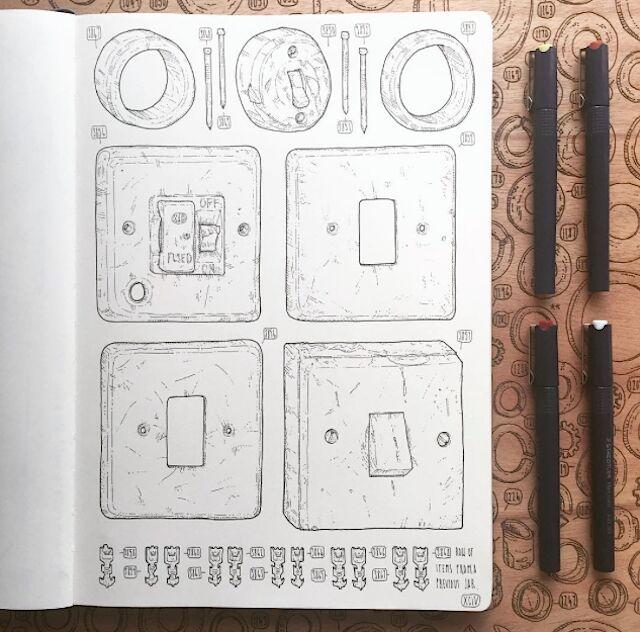 artista-commemora-nonno-disegna-attrezzi-lee-john-phillips-04