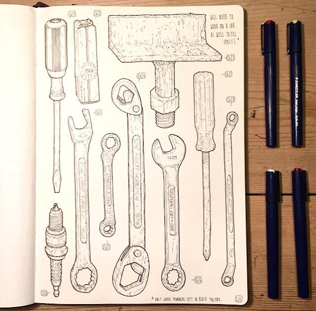 artista-commemora-nonno-disegna-attrezzi-lee-john-phillips-12