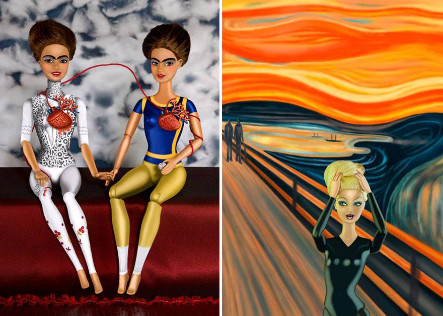 barbie-invadono-dipinti-famosi-02