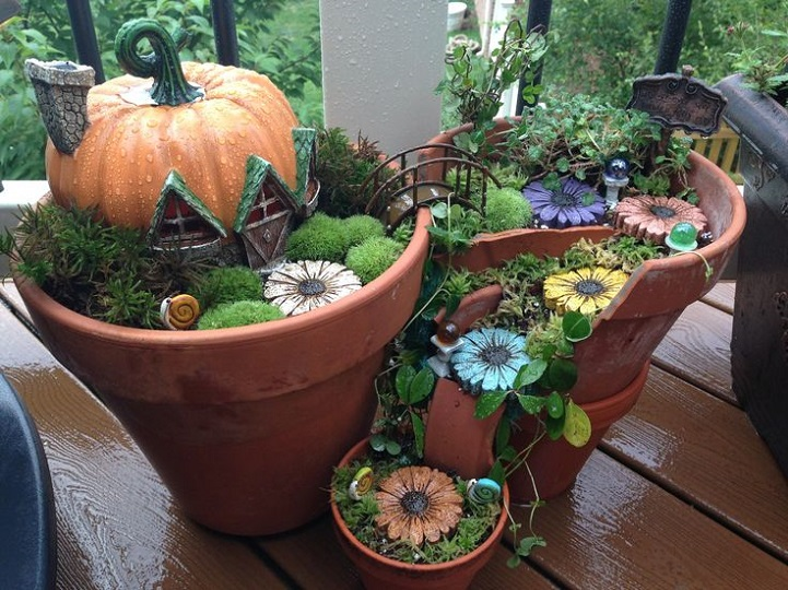 Popolare Un originale progetto fai da te trasforma vasi rotti in giardini  AQ66